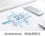 seo business  search engine... | Shutterstock . vector #563630011