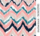 vector colorful tribal ethnic... | Shutterstock .eps vector #563632981