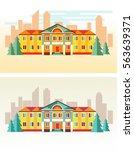 urban landscape. the building...   Shutterstock .eps vector #563639371