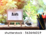 assets   business concept text... | Shutterstock . vector #563646019