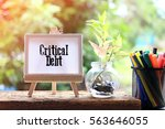 critical dept   business... | Shutterstock . vector #563646055