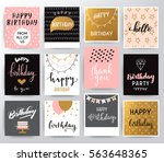 vector happy birthday set | Shutterstock .eps vector #563648365