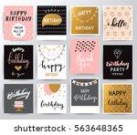 vector happy birthday set | Shutterstock .eps vector #563648365