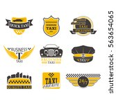 taxi badge vector illustration. | Shutterstock .eps vector #563654065