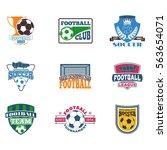 soccer sign vector set. | Shutterstock .eps vector #563654071