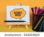 business model   concept of... | Shutterstock . vector #563654824