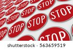 ordered grid of stop signs....   Shutterstock . vector #563659519
