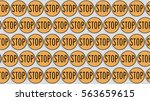 ordered grid of stop signs....   Shutterstock . vector #563659615