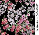 bouquet spring flowers...   Shutterstock . vector #563661817