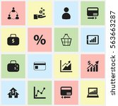set of 16 editable statistic...