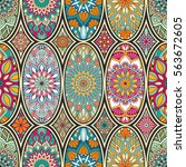 seamless pattern tile with... | Shutterstock .eps vector #563672605