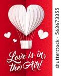 white paper heart shape vector... | Shutterstock .eps vector #563673355