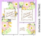 vintage delicate invitation... | Shutterstock .eps vector #563679661