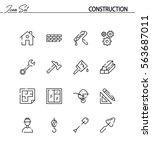 construction flat icon set....