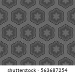 abstract repeat backdrop.... | Shutterstock .eps vector #563687254