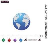 world globe vector illustration. | Shutterstock .eps vector #563691199