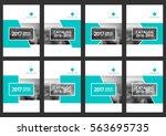 set of corporate cover design... | Shutterstock .eps vector #563695735