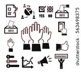 democracy  vote icon set | Shutterstock .eps vector #563698375