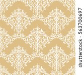 damask seamless floral pattern... | Shutterstock .eps vector #563700697