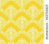 damask seamless floral pattern... | Shutterstock . vector #563701825