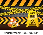 under construction background | Shutterstock .eps vector #563702434