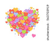 vector stock of heart shaped... | Shutterstock .eps vector #563703919