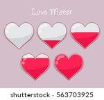 vector stock of hearts love...   Shutterstock .eps vector #563703925