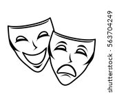 theater mask isolated icon | Shutterstock .eps vector #563704249