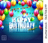 luxury birthday template with... | Shutterstock .eps vector #563706199