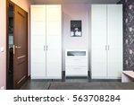 interior bedrooms with... | Shutterstock . vector #563708284
