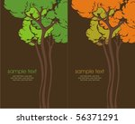 two variants of cards with... | Shutterstock .eps vector #56371291
