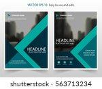 green annual report brochure...   Shutterstock .eps vector #563713234