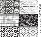 set of 6 abstract patterns.... | Shutterstock .eps vector #563715649