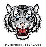 tiger head | Shutterstock .eps vector #563717065