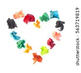 collection colorful crumpled...   Shutterstock . vector #563719819