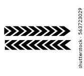 tire track  icon image vector... | Shutterstock .eps vector #563723029
