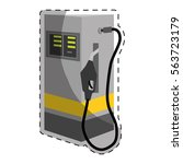 gas pump station gasoline or... | Shutterstock .eps vector #563723179