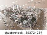 Sketch Cityscape Of Yangon ...