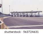 toll booth in express way | Shutterstock . vector #563724631