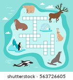 animals crossword  education... | Shutterstock .eps vector #563726605