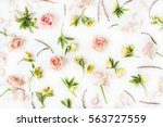 floral texture. pink roses and...