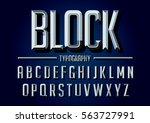 vector of retro stylized bold... | Shutterstock .eps vector #563727991