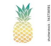 pineapple vector illustration | Shutterstock .eps vector #563738581