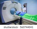 radiologic technician mature... | Shutterstock . vector #563744041