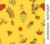 diwali   indian festival... | Shutterstock .eps vector #563751829