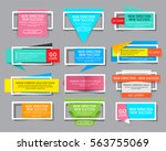 set of colorful website banner... | Shutterstock .eps vector #563755069