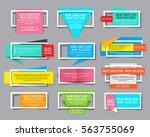 set of website banner with... | Shutterstock .eps vector #563755069