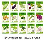 vegetables price tags. farm... | Shutterstock .eps vector #563757265