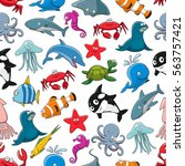 pattern of sea animals as...