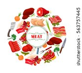 Poster Of Vector Meat As Beef...